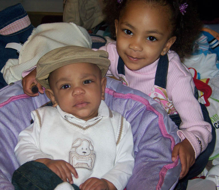 my son and daughter cris and micah